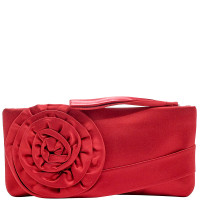 Valentino-SATIN ROSE CLUTCH