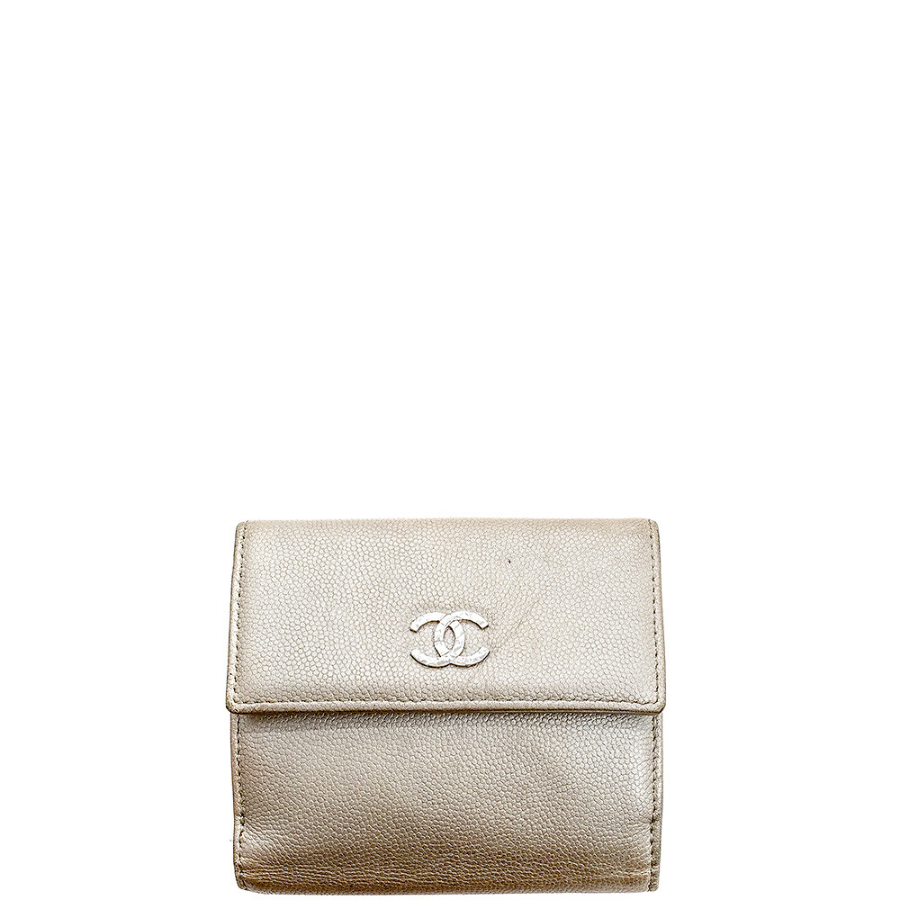 Chanel-CAVIAR SMALL FLAP WALLET