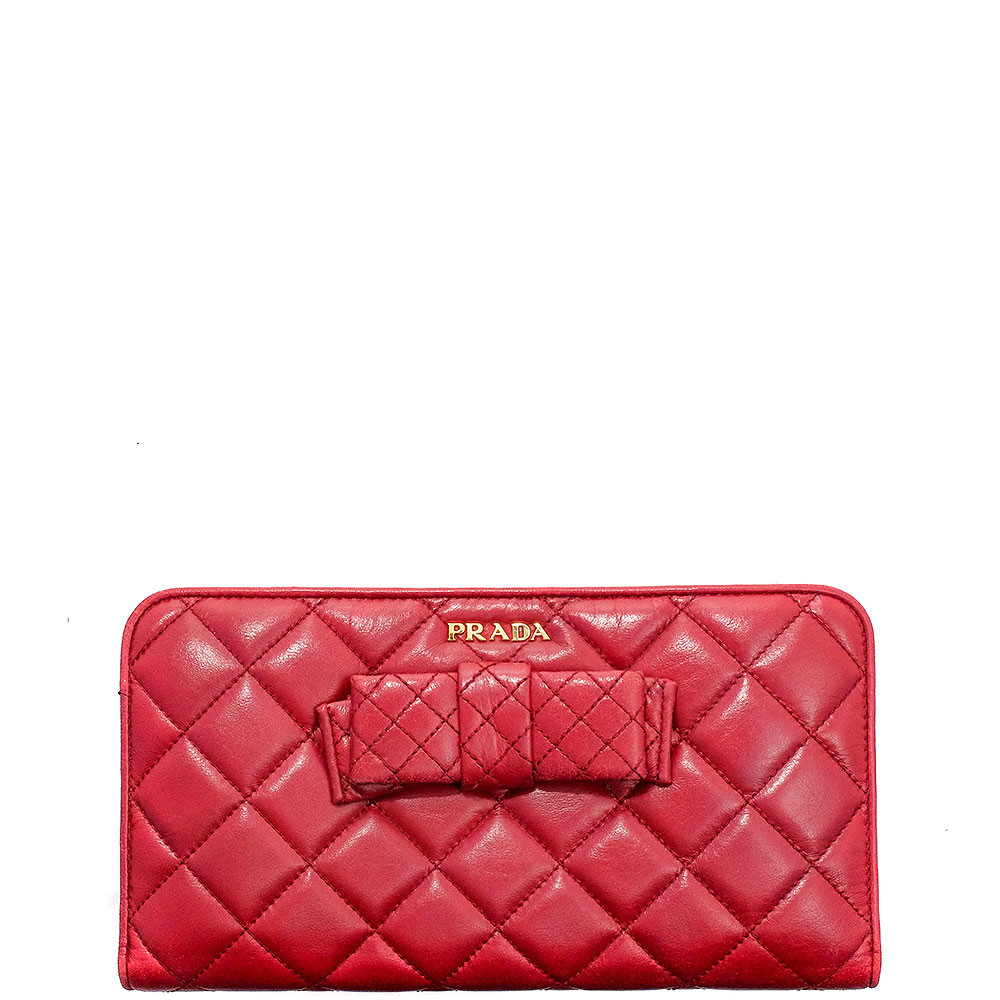 Prada-NAPPA BOW LONG WALLET