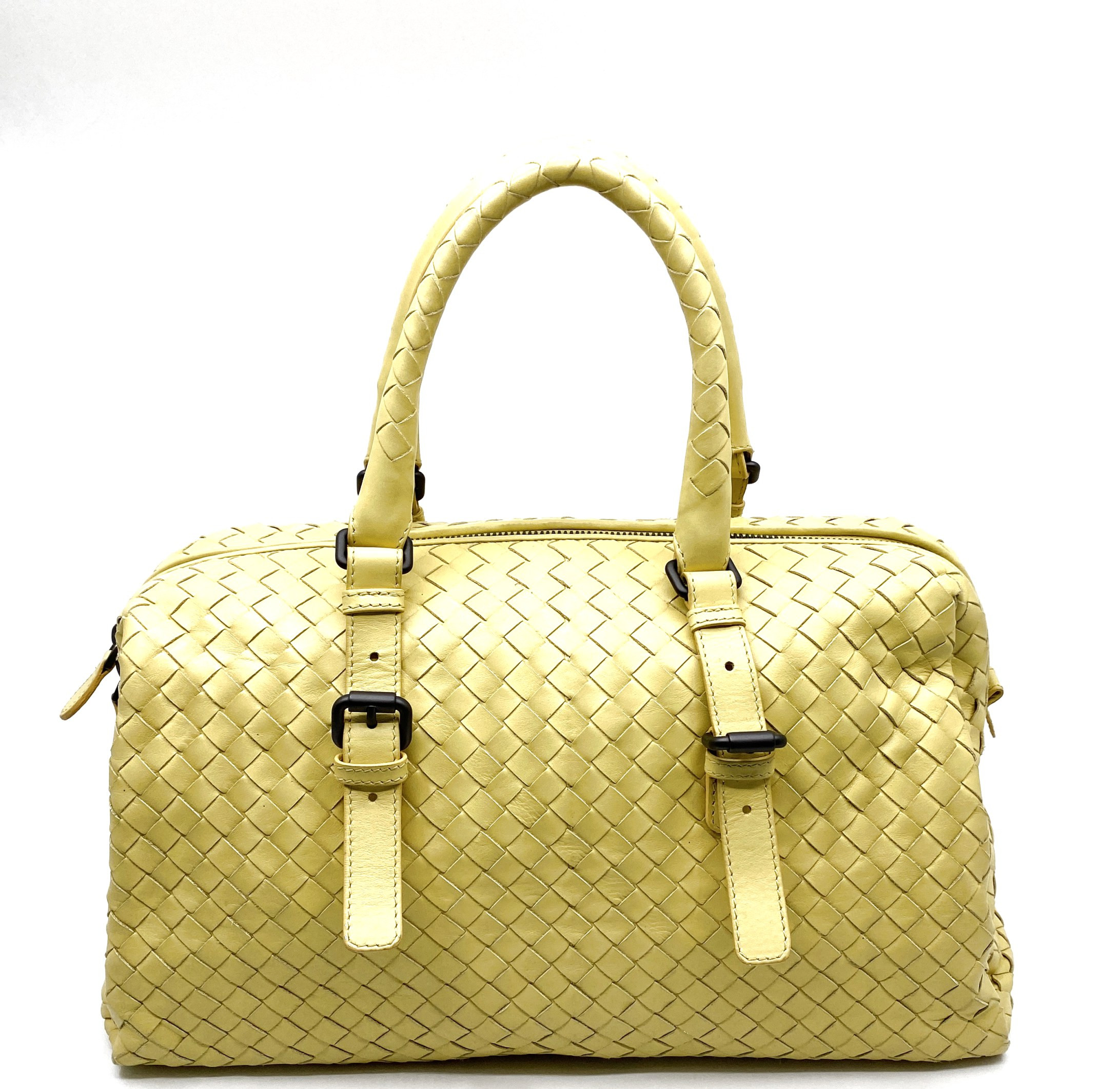Bottega Veneta-INTRECCIATO BOSTON BAG